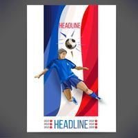 Voetbalkaart en infographics vector