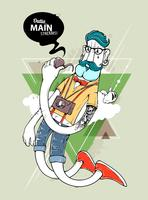 Hipster graffiti karakter