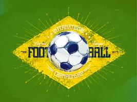 Retro voetbal embleem vector