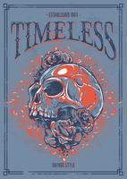 Grunge poster met schedel