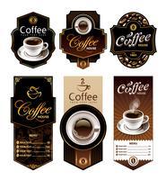 Koffie ontwerp banners vector