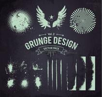 Grunge ontwerpelementen Set 2