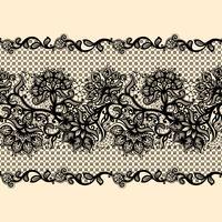 Abstracte kant lint naadloze patroon met elementen bloemen.
