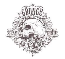 Grunge schedel kunst