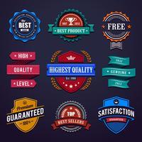 Vintage premium kwaliteitslabels vector