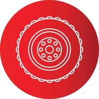 Van de de Cirkel de Perfecte Pictogram van de gradiëntlijn Vector of Pigtogram-Illustratie