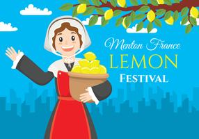 Menton Frankrijk citroen festival illustratie vector