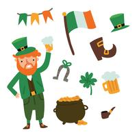 St Patrick's Day Doodles vector
