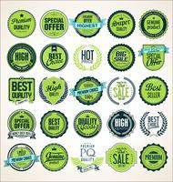 Verzameling van vintage retro premium kwaliteit badges en etiketten vector
