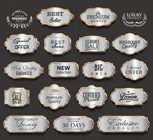 Luxe gouden en zwarte designelementencollectie vector