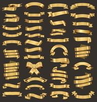 Een verzameling van verschillende gouden linten vector illustratie