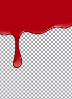 Bloed of Aardbeistroop of Ketchup op transparante achtergrond. Vector illustratie