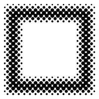 Gedetailleerde vectorhalftone voor achtergronden en ontwerpen vector