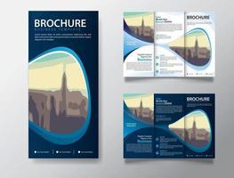 drievoudige brochuresjabloon voor promotiemarketing vector