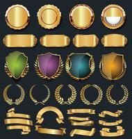 Luxe goud en zilver design elementen collectie