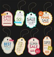 verkoop tags vector