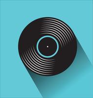 Zwarte vinyl record winkel dag platte concept vectorillustratie