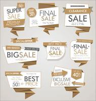 Moderne verkoopbanners en etiketteninzameling vector