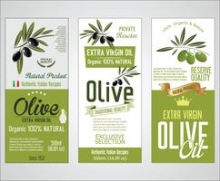 Vectorinzameling olijfolielabels vector