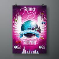 Vector zomer Beach Party Flyer Design