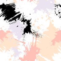 Abstract naadloos patroon met penseelstreken, verf spatten en steen texturen.