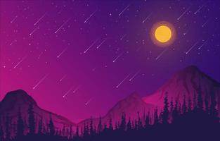 meteorenregen achtergrond be vector