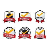 geverifieerde badgecollectie vector