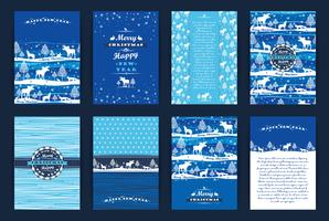 Kerstmis en Nieuwjaar Set. vector
