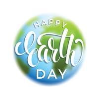 Dag van de aarde dag concept met de planeet aarde. vector