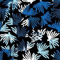 Vector zee naadloze patroon met hand getrokken texturen.
