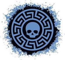 Slavisch bord met schedel, swastika, ontwerp voor t-shirts vector