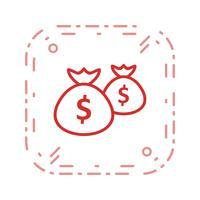 Geldzakken Vector Icon
