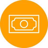 Bankbiljet Vector pictogram
