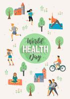 Wereldgezondheidsdag. Gezonde levensstijl.