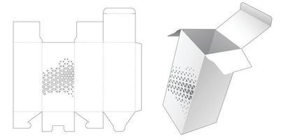 verpakking gestanst sjabloon vector