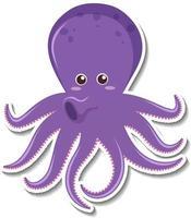schattige octopus stripfiguur sticker vector