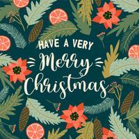 Kerstmis en gelukkig Nieuwjaar illustratie. Vector ontwerpsjabloon.