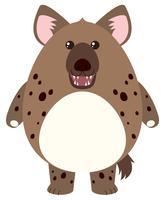 Hyena met rond lichaam vector