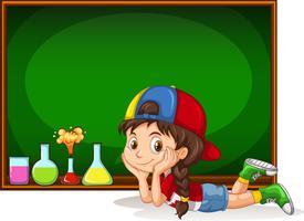Schoolbord en klein meisje