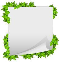 Een groen natuurbladframe