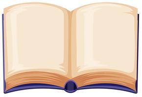 Leeg boek op witte achtergrond vector