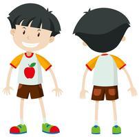 Voor- en achterkant van een jongen vector
