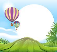 Luchtballon sjabloon vector