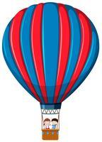 Geïsoleerde kinderen in hete luchtballon vector