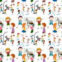 Kinderactiviteit naadloze patroon