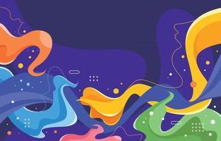 abstracte kleurrijke vormen achtergrond vector