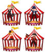Set van circusartiesten