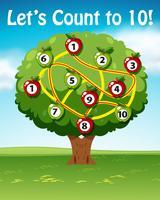 laat tellen tot tien bomen