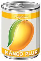een blikje mango plup