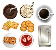 Snacks en drankjes vector